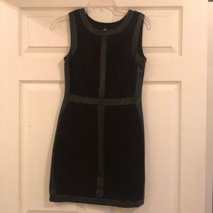 Bailey 44 Black Faux Leather Dress- Size XS